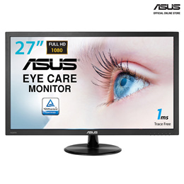 10.10 Promotion! ASUS VP278H Gaming Monitor - 27 FHD (1920x1080), 1ms, Low Blue Light, Flicker Free. Superior Image Quality Meets Classic Elegant Design. Local Stocks and Warranty!