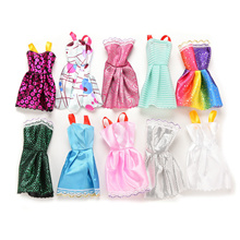 10 Pcs Fashion Handmade Dresses Clothes For 11inches Barbie Doll Style Random