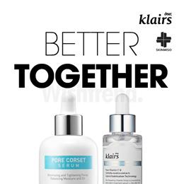 Apply 20% Coupon!(SET) [KLAIRS] Freshly Juiced Vitamin Drop +[SKINMISO] Pore corset serum/ pore and brightening care