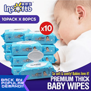 [Insoftb]*Premium Baby Wipes/ Wet Wipes Restock!* 10 Packs ONLY $11.11! Suitable for hands and mouth