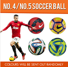 No. 4 and No.5 Soccer Ball multiple colors / Color will be sent out randomly