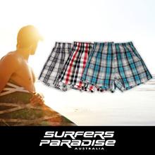 SPMAX Men's Multi-colors Boxer Shorts (3 Pieces in 1 Set)