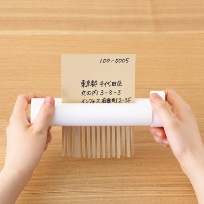 Japan muji/MUJI white simple Office shredder, shredder manual mini hand