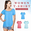 New Collection Branded Women Basic T-shirt - 3 Colors - Good Quality