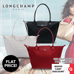Use Q10 coupon! [FREE LONGCHAMP Paper Bag and receipt] SG Local 100% Authentic Longchamp Le Pliage Neo Tote Bag 1899 Large (With Receipt)