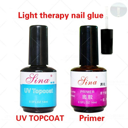 New 14ml UV Primer and UV TOPCOAT Base Gel Nail Art UV Gel Polish Acrylics Professional (Size: 14 Ml
