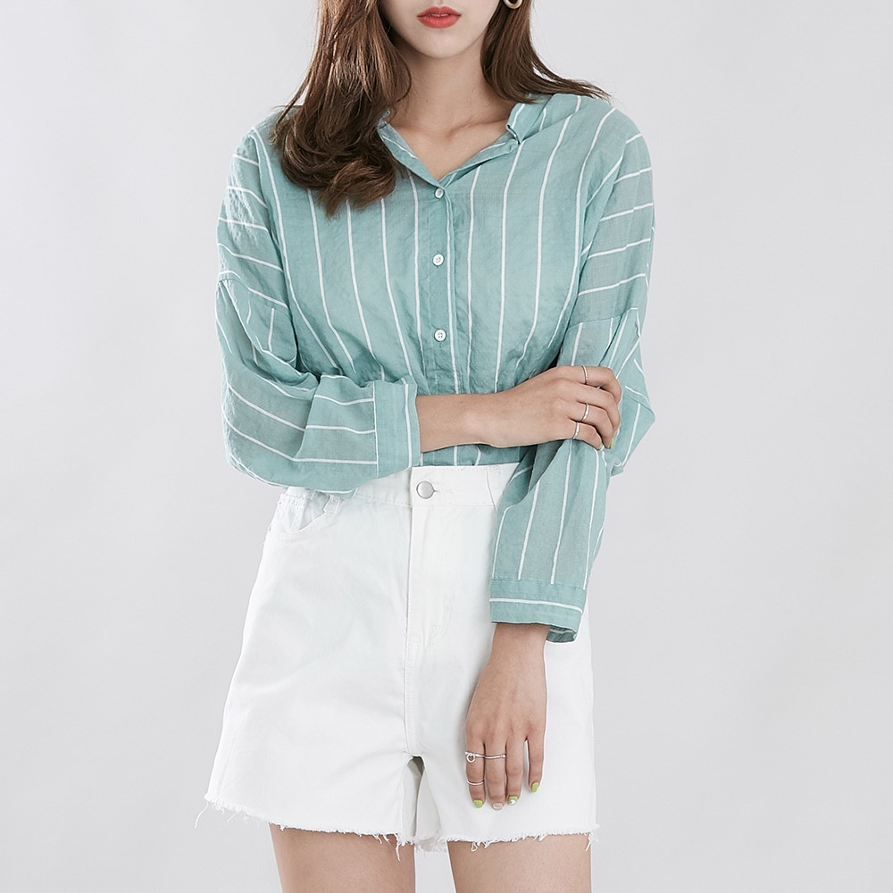 [ROCOSIX官方旗艦店] 條紋襯衫