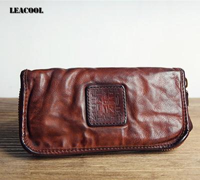 Luxury Men/'s Genuine Leather Wallet Clutch Big Capacity Phone Bag Cowhide Purse