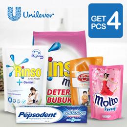 [ GET 4 PCS ] Bundling Promo Peakday Unilever ( Rinso + Molto + Lifebuoy + Pepsodent )