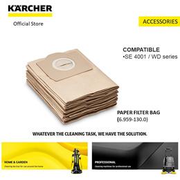 KÄRCHER Paper Filter Bags pack of 5 (6.959-130.0)