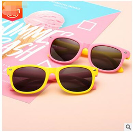 cc5651639b Silicone childrens polarized sunglasses cross-border boys and girls kids  trend cartoon sunglasses