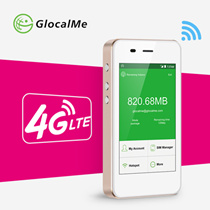 【Local Shipping】GlocalMe Poket Wireless Wifi Router Hotspot Roaming Free 4G LTE High Speed Global