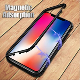 Magnetic Adsorption Phone Case for iPhone X 8 7 Plus Huawei P20 Samusng S9 S8 OPPO R15 Full Side