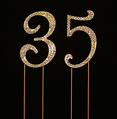 Charming Collections Number 35 For 35th Birthday Cake Topper Anniversary