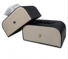Car leather tissue box Volkswagen Audi BMW Chevrolet car seat type pumping tray—NS