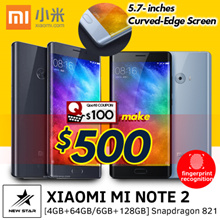 3 Day Special ~ XIAOMI MI Note 2 ★ Qualcomm MSM8996 Snapdragon 821 ★ 4GB+64GB/6GB+128GB ★