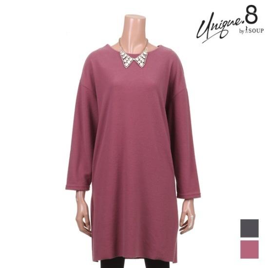 森SOUPラブリー白リボン起毛ワンピースSTKOP16 面ワンピース/ 韓国ファッション