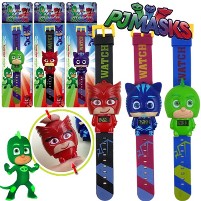 PJ Masks Watches Cartoon Watch Hide Time Timer PJmasks Mask Kids Child Boy  Girl PJmask Toy Toys Cute