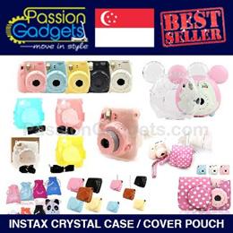 ★Instax Mini★Crystal Case Instax Polaroid Camera Hamburger Bag Cover Pouch Mini 8 7S 25 55s 50s 300
