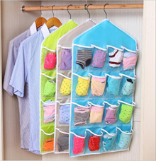 Storage hanging bag / 16-story clothing socks underwear storage hanging bag Wardrobe small things st