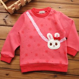 Mikihouse girls bottoming shirt children wear boys sweater and wool-cotton, spring 2016 new