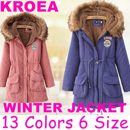 2018 winter jacket women wadded jacket female outerwear slim winter hooded coat long cotton padded