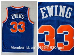 Cheap New York  33 Patrick Ewing Basketball Jersey Throwback Jerseys  Embroidery Stitched Logos Retro 48dacd999