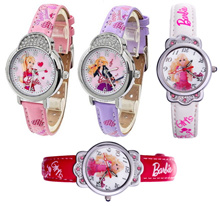 Korean Style Barbie Girl Watch (61010) nice gift for daughter birthday or children day