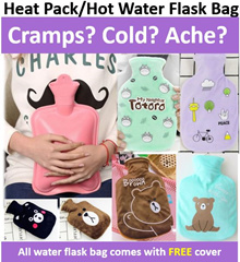 ***High Quality Hot Water Pack*** [For CRAMPS|COLD|ACHE] Heat pack / Hot Water Flask Bag/ Heat Pad-