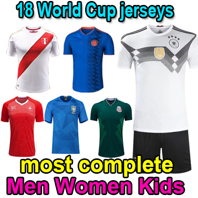 79840ff92 NEWEST Most complete 2018 World Cup jersey suit adult kids Germany Argentina