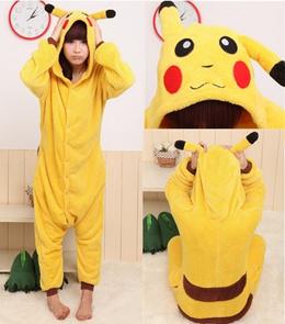 New Adult Unisex Kigurumi Pajamas Anime Cosplay Costume Onesie Dress Pikachu daf7c39eb