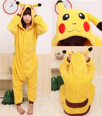 97a85b73831d New Adult Unisex Kigurumi Pajamas Anime Cosplay Costume Onesie Dress Pikachu