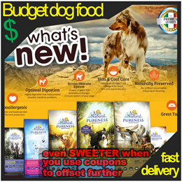 BUDGET dog food - Alps natural dog food 13kg pack