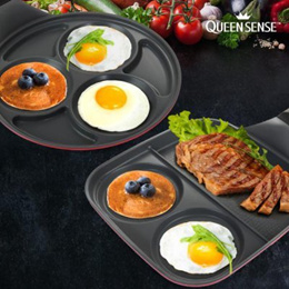 【Queen Sence】 Egg Pan / Round or Square / Multi Frying pan / Home Chef / Fried egg / Made in Korea