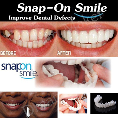 Teeth Whitening Snap On Smile Teeth Cosmetic Denture Instant Perfect Smile  Teeth Fake Tooth Cover