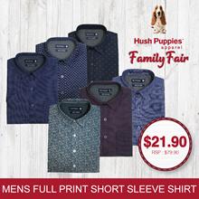 Hush Puppies Mens Woven Top Full Cotton Printed Shirt | 12 Designs - HMW856558