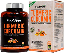 💖$1 Shop Coupon💖  Turmeric Curcumin with BioPerine Black Pepper and Ginger - Made in USA - 120 Veg