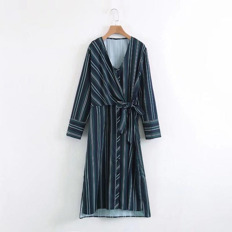 2017秋冬服新型、欧米のファッション修身修身スカート長そでワンピース