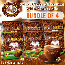 x 4 Packs Old Town White Coffee (Classic/Hazelnut)