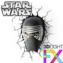 STAR WARS 3D Light FX Deco Light LED Kylo Ren Yoda Millennium Falcon BB-8 R2-D2 Stormtrooper Death Star C-3PO Boba Fett Darth Vader Lightsaber