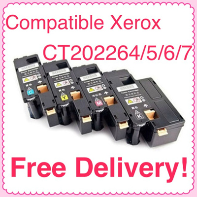 FUJI Xerox (SG Sales!) Compatible FUJI XEROX Printer Toner Cartridge  CT202264/5/6/7 *BUNDLE* (4 PIECES - KCMY)