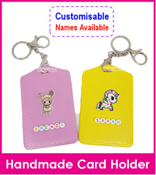 Customised Small Beads Name Lanyard/Personalised Cartoon Key Ring Tag/Bag Tag/Card Holder