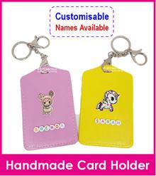 Customised Small Beads Name Lanyard/Personalised Cartoon Key Ring Tag/Bag Tag/Card Holder