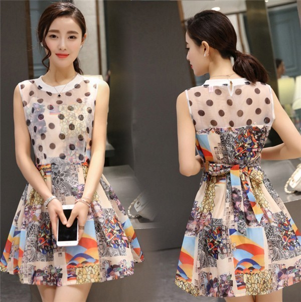 レディースワンピース 韓国無地 スリム 韓国のファッション  ノースリーブワンピース 上品 ロングスカート  ハイウエストワンピース  プリントワンピース  ハイセンス 着心地いい おしゃれ 夏 スリム セール★ レディースワンピース
