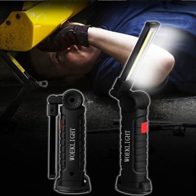 Helpful Cob+led Rechargeable Magnetic Torch Flexible Inspection Lamp Cordless Worklight Emergency Lights