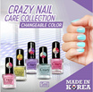 *** CHANGEABLE COLOR *** CRAZY NAIL CARE COLLECTION 3 + Style Color Change ++ Best Selling nail care in Korea