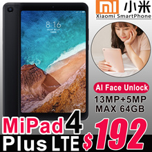 Authentic Xiaomi Mi Pad 4 Plus Android Tablet PC 8.0/10.1inch Snapdragon 660 WiFi 4G LTE 13MP Camera