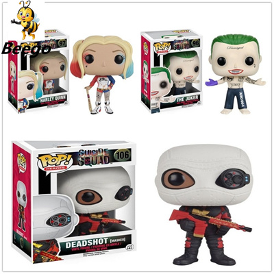 Funko POP Suicide Squad Joker Harley Quinn Deadshot Model Figure Collection  Model Toy gifts FG2656