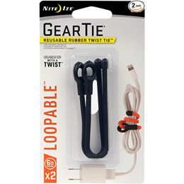 NiteIze Loopable Twist Tie - Black 2 Pack
