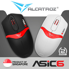 Alcatroz | USB Wired mouse Asic 6|2 years warranty|Singapore product|